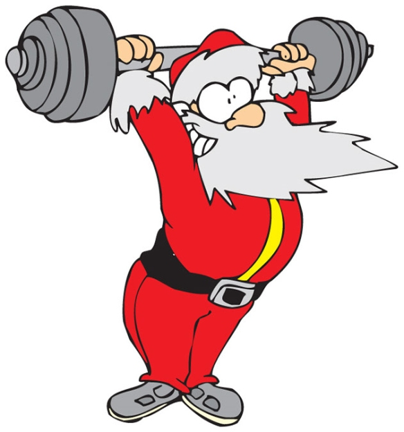 weightlifting santa