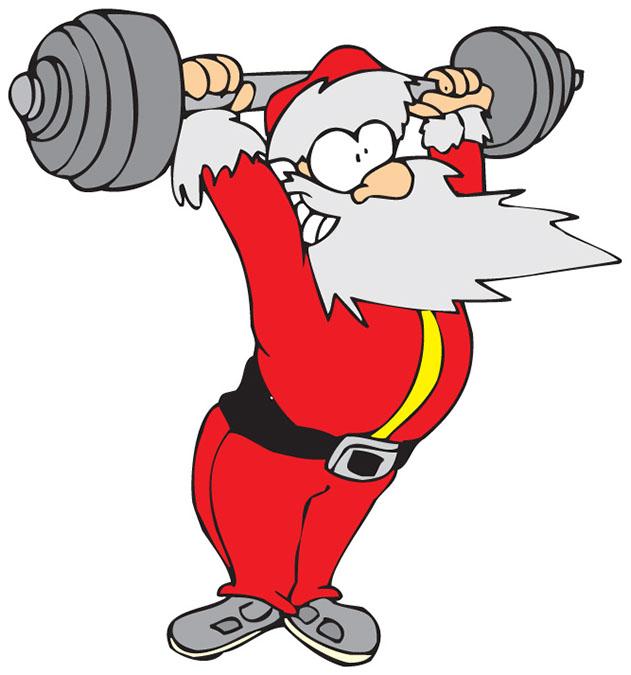 weightlifting santa